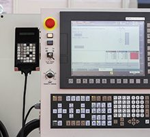 Control panel of a cnc machine. Programmable machine. Selective focus and shallow dof.