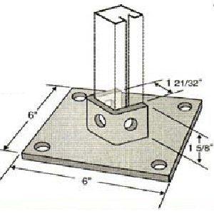 Diagonal Post Base GPB102