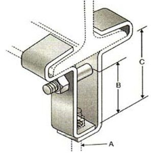 Series 675 Steel Center Load Beam Clamp