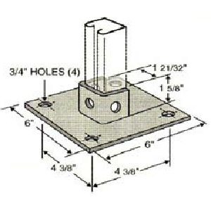 Square Post Base GPB101