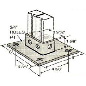 Square Post Base GPB111