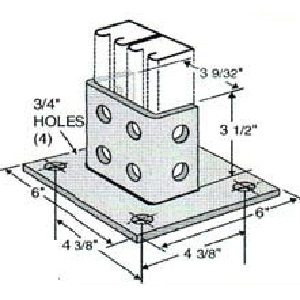 Square Post Base GPB211